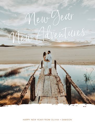 New Year New Adventures - New Year's Card template