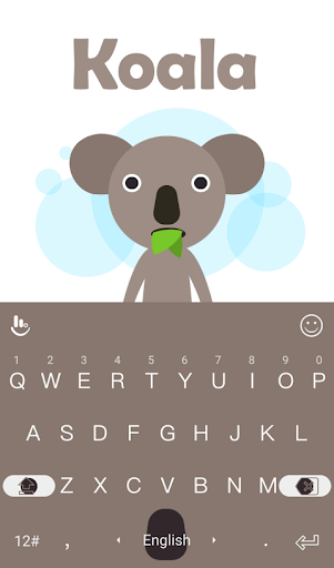 Adorkable Koala Keyboard Theme