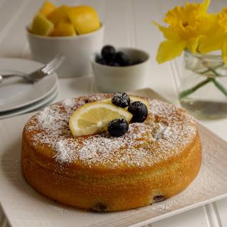 Blueberry lemon Olive Oil Cake.