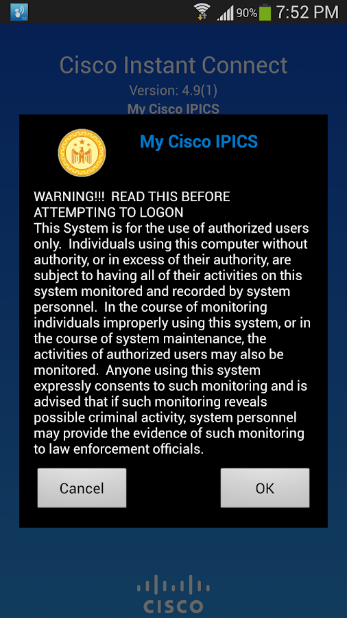 Cisco Instant Connect 4.9(1)- screenshot