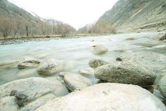 Photo: Žydrai žalios kalnų upės.  Cyan colour mountain rivers.