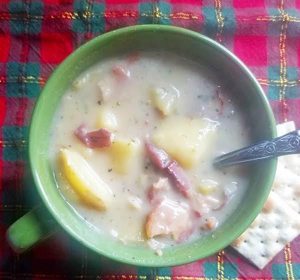 Creamy Potato And Peppered Bacon Soup Recipe