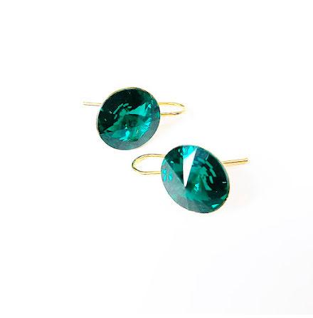 Örhängen med Swarowski® kristaller Angelina Emerald