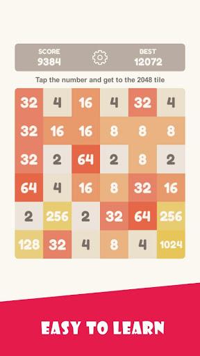 Tap 2048 - worldwide poplar game 1.3.9 screenshots 2