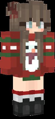 Christmas Minecraft Skin Girl.Christmas Nova Skin