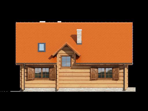 Bolesławice drewniane - Elewacja tylna
