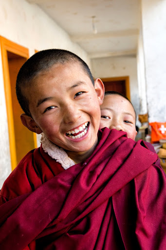 Young Monks in Tibet