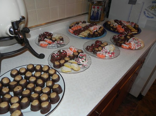 At Christmas time I dip them in white chocolate too adn spinkle colored sugars...