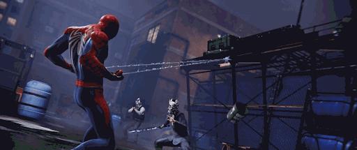 スパイダーマンPS4:足場倒し