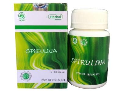 hiu spirulina spirulins kapsul ekstrak spirulina obat herbal diet kekebalan tubuh jantung anemia masker spirulina memutihkan wajah