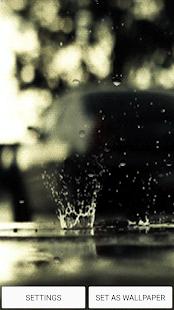 Zvuk Deště Živá Tapeta - náhled