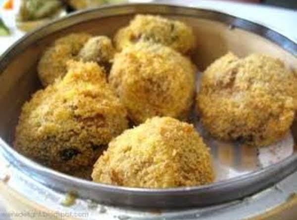 Golden Mushroom Fritters Recipe
