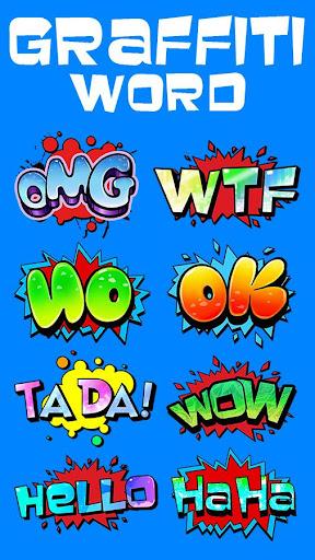 Keyboard Sticker Graffiti Word