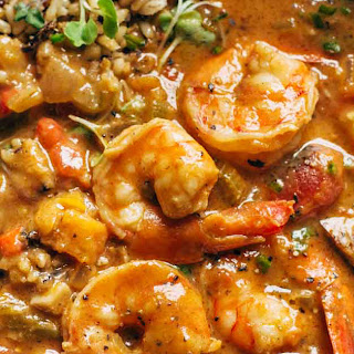 The Best Spicy Weekend Gumbo + Brown Rice.