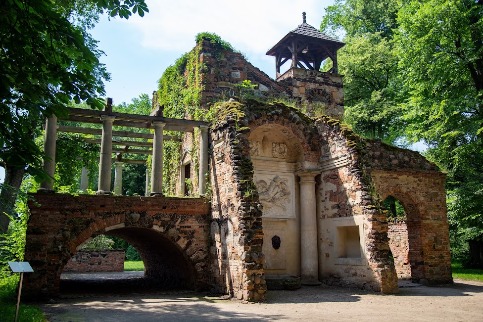 Przybytek Arcykapłana, Arkadia, Romantyczny park w Arkadii, Polska