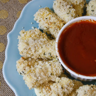 Healthier Mozzarella Cheese Sticks with Dipping Sauce
