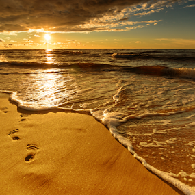 Sunset by Robert  Płóciennik - Landscapes Sunsets & Sunrises ( nature, sunset, summer, travel, beach, landscape )