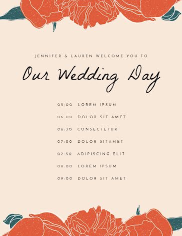 Our Wedding Day - Planner Template