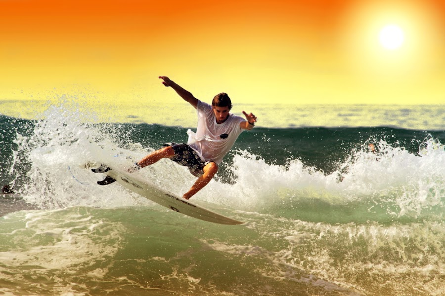 Sunset Action by Alit  Apriyana - Sports & Fitness Surfing