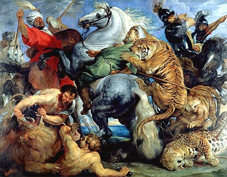 Photo: Tiger, Lion and Leopard Hunt, 1616