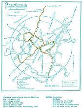 Photo: Mapa das linhas de bondes do centro da cidade.