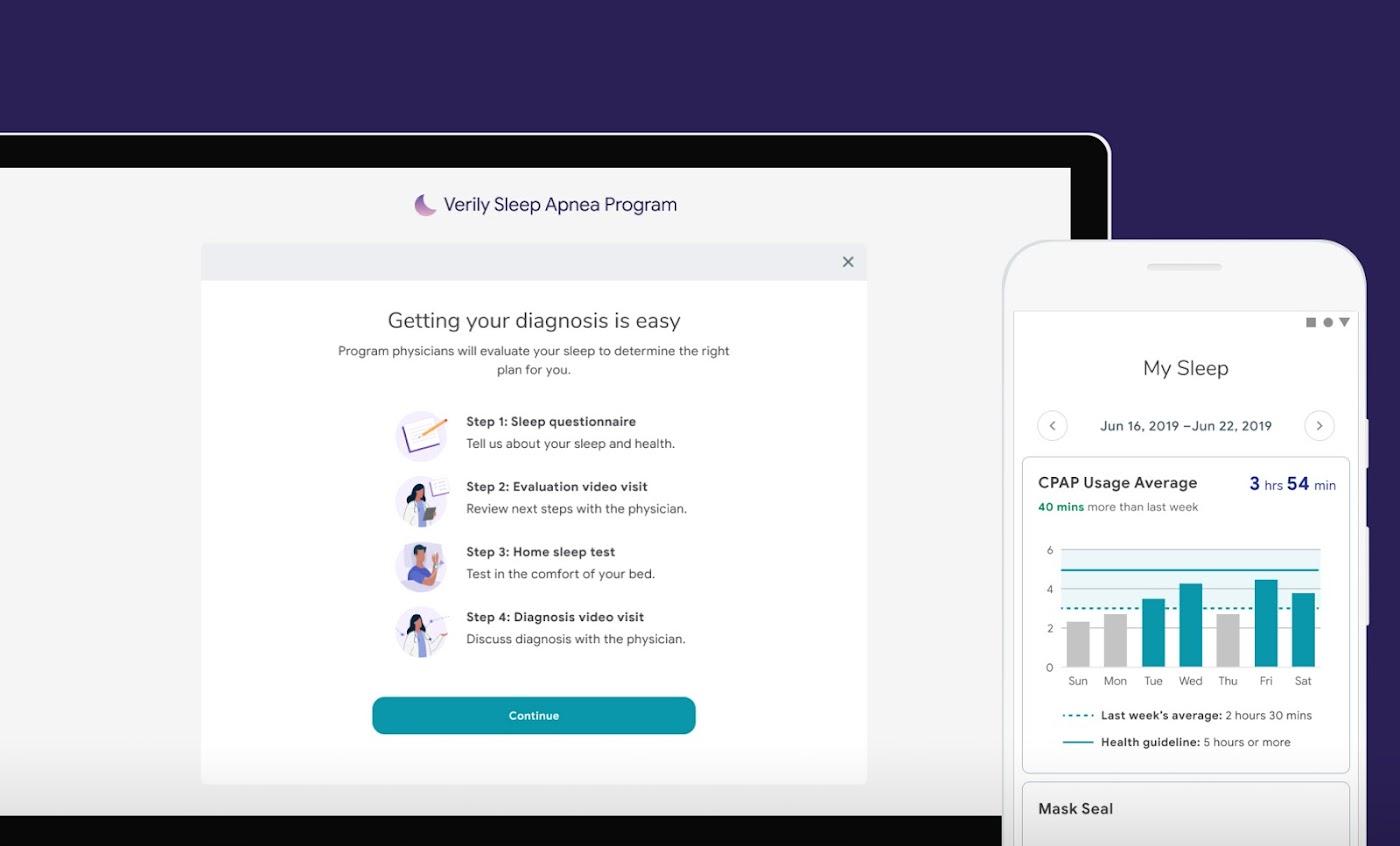 sleep apnea app UI interface image