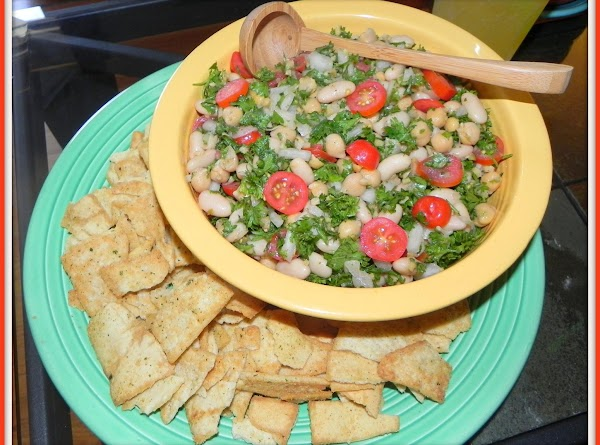 Pour into a serving bowl, add your pita chips, tortilla chips or bread that...