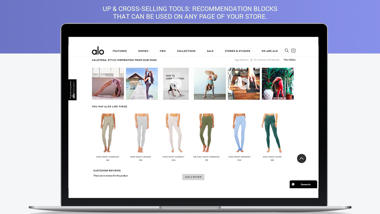 Up & Cross-selling tools for Shopify: Recommendations