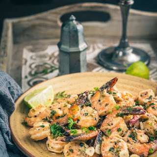Garlic and Parsley Prawns.