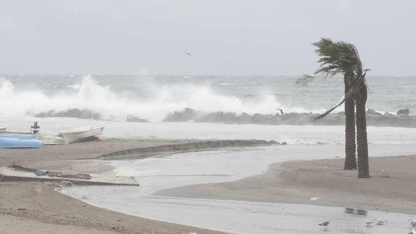 Imagen de archivo de un temporal en la capital.
