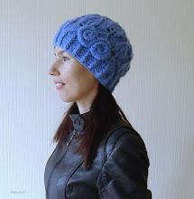Photo: женская вязаная шапочка Волошки