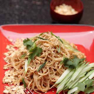 Spicy Vegan Sesame Peanut Noodles.