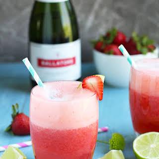 Prosecco Strawberry Margaritas.