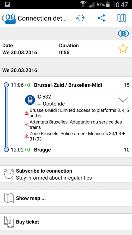 SNCB/NMBS- screenshot