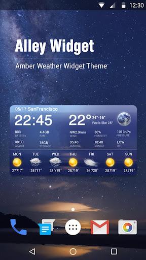 7 Day Weather Forecast Widget