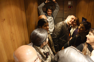 Photo: My family and I inside the elevator, Granada ENE12