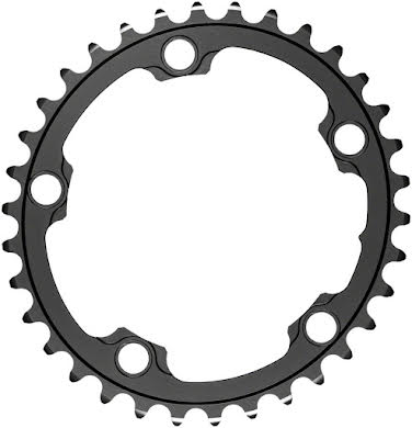 Absolute Black Silver Series Oval 110 BCD Inner Chainring - 5-Bolt alternate image 0