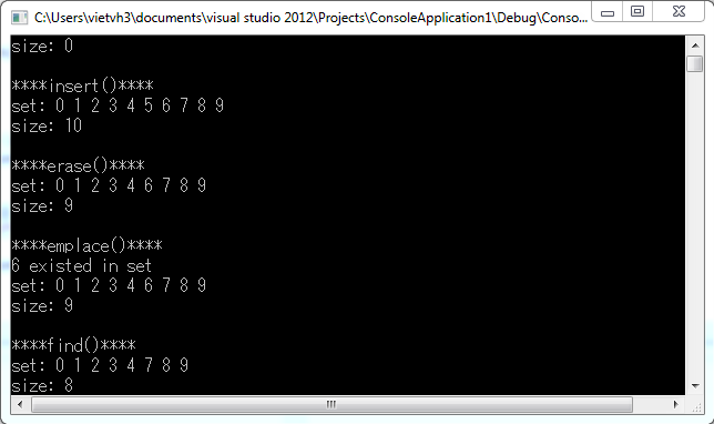 Set STL C++
