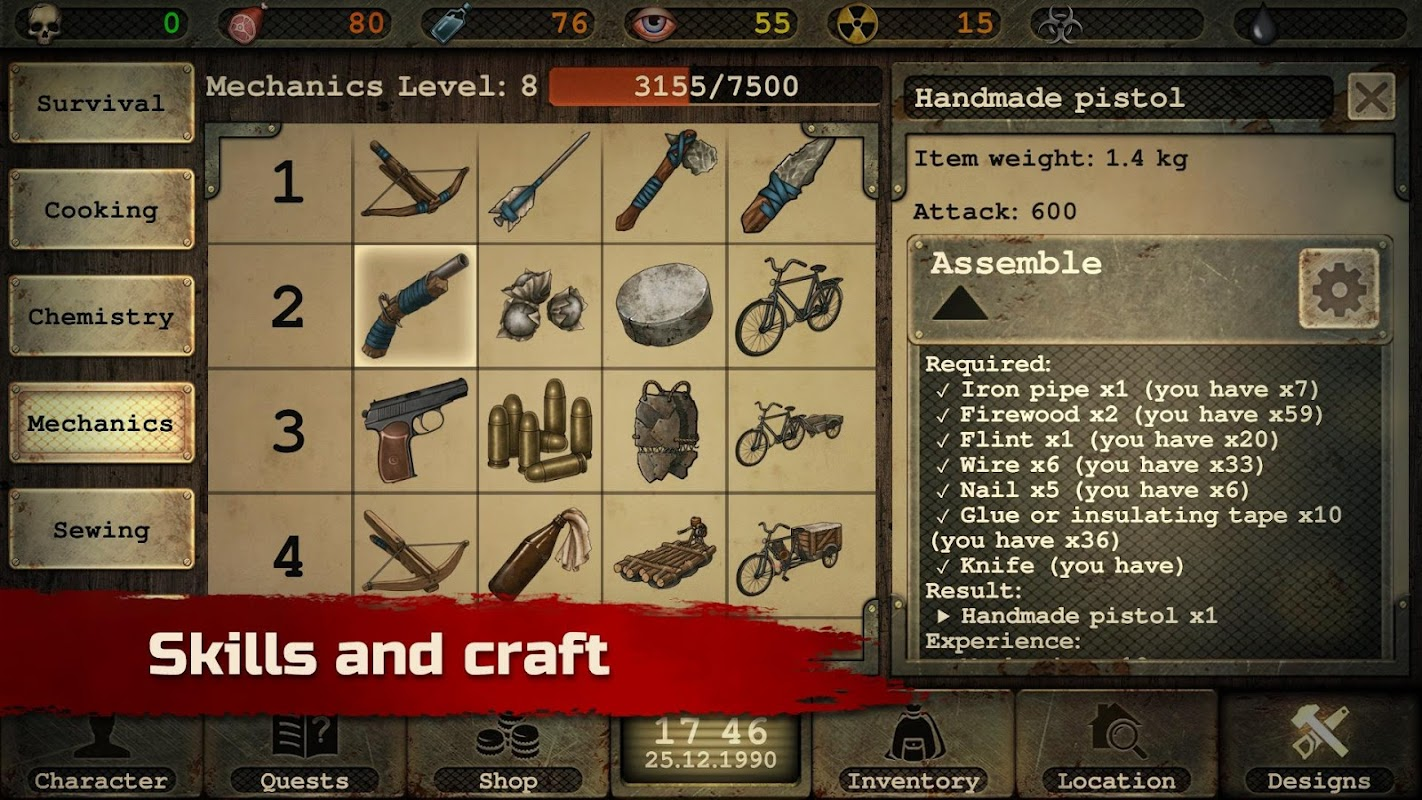 Day R Survival – Apocalypse, Lone Survivor and RPG screenshots