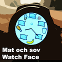 Mat och sov Watch Face icon