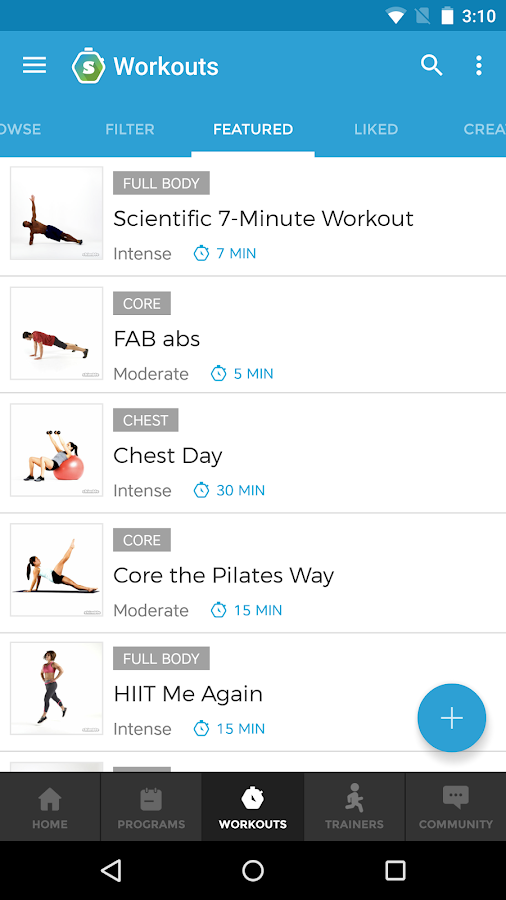 Workout Trainer- screenshot