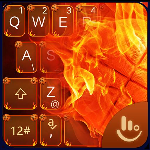 App Insights Fierce Fire Basketball Keyboard Theme Apptopia