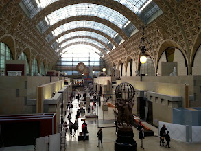 Photo: Orsay museum -When artists, including Manet, were rejected from the Louvre in the 19th century, they opened up this place in what used to be a train station. Ha. They showed the Louvre alright. The top floor has the big names.