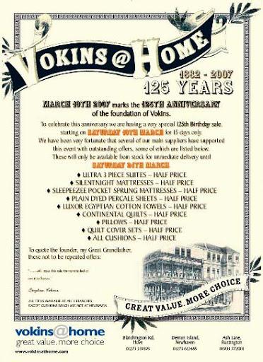 Vokins 125 years advert