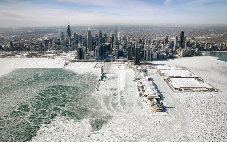 Chicago nella morsa del gelo
