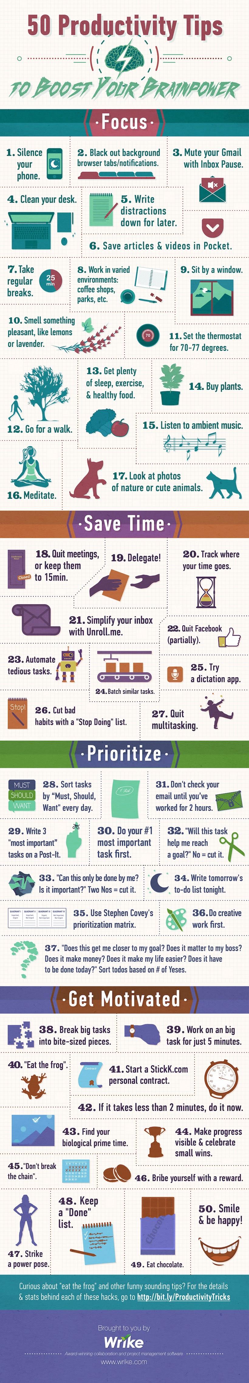 50 tips de productividad