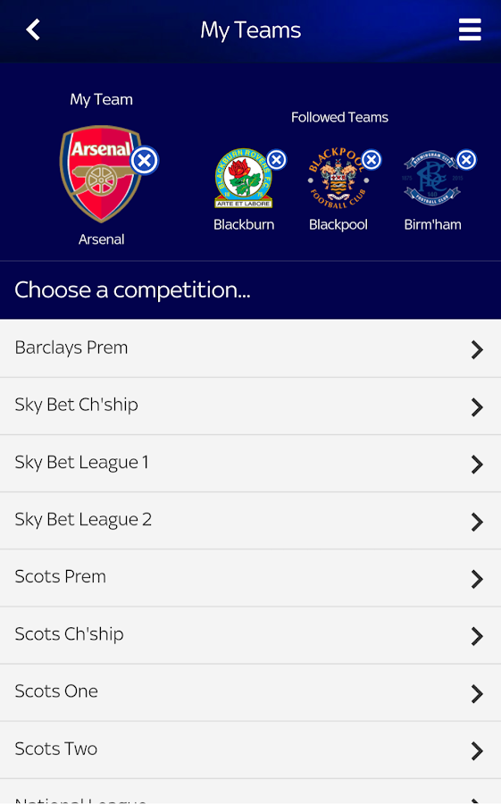 Sky Sports Live Football SC- screenshot