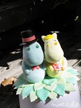 Photo: Mr & Mrs Moomin Custom edible cake topper