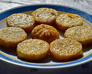 Hot Air Fried Polenta  Rounds