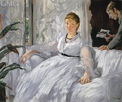 Photo: Madame Manet (Reading), 1868